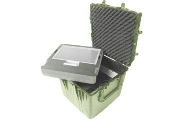 Pelican Large Od Green Cube Case 0370nf No Foam
