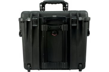 Pelican Medium Black Case 1447 with Padded Office Divider Set and Lid Organizer
