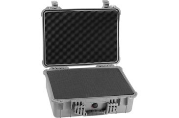 Pelican Medium Silver Case 1520 with Foam