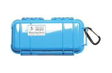 Pelican Micro Case 1030 - Solid Carabiner Loop Blue Dry Box