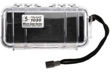 Pelican Micro Case 1030 - Clear Carabiner Loop Black Dry Box