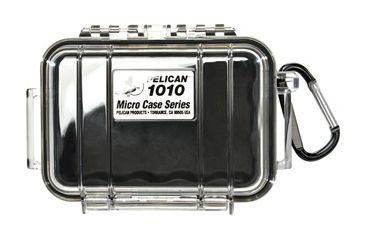 Pelican Series Waterproof Crushproof Micro Case - Black, Solid Carabiner 025-110
