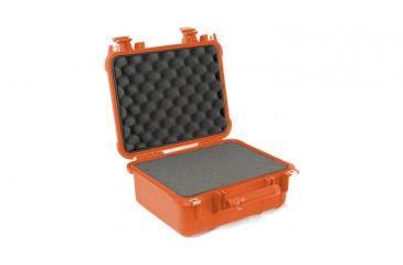 Pelican 1400 Small 13x11x6in Protector Waterproof Carry Case, Orange w/ Foam