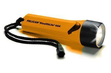 Pelican Stealthlite 2400 Xenon 4AA Flashlight, Orange w/ Batteries 2400C