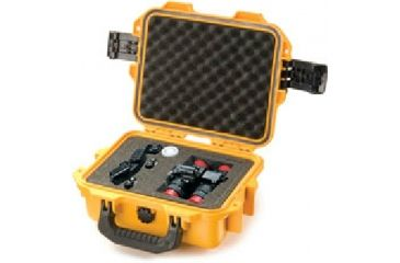 Pelican Storm Cases iM2075 - No Foam - Cubed Foam - w/o wheels - Airline - Carry On - Padded Divider, Int Orange, with Bbb with Foam