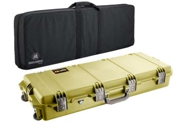 Pelican Storm Cases IM3100 Case, Coyote Tan w/Black FieldPak Soft Bag 472PWCDW3100COYBLK
