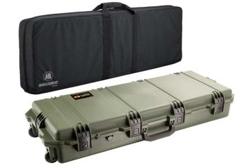 Pelican Storm Cases IM3100 Case, OD Green w/Black Soft-Sided Bag 472PWCDW3100ODBLK