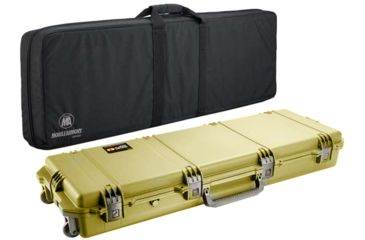 Pelican Storm Cases IM3200 Case, Coyote Tan w/Black Soft-Sided Bag 472PWCDW3200COYBLK