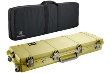 Pelican Storm Cases IM3300 Case, Coyote Tan w/Black Soft-Sided Bag 472PWCDW3300COYBLK