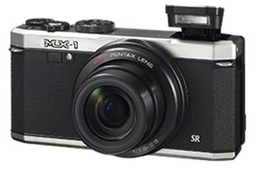 Pentax MX-1 Compact Digital Camera, Black and Silver 12633