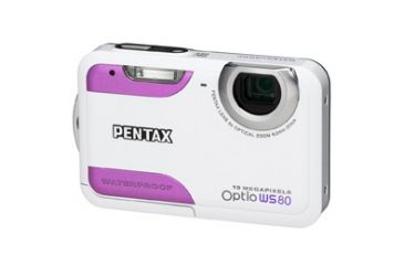 Pentax Optio WS80 Digital Camera, White & Purple 16101