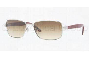 Persol PO2347S Sunglasses 918/51-5516 - Silver Crystal Brown G