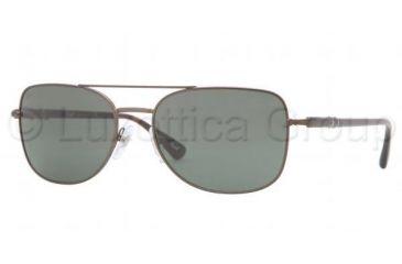 Persol PO2420S Sunglasses 101831-5618 - Matte Brown Frame, Green Lenses