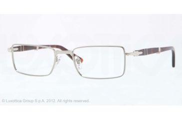 Persol PO2425V Single Vision Prescription Eyeglasses 513-51 - Gunmetal Frame, Demo Lens Lenses