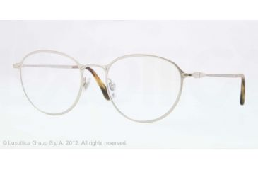 Persol PO2426V Single Vision Prescription Eyeglasses 1051-50 - Silver Frame, Demo Lens Lenses