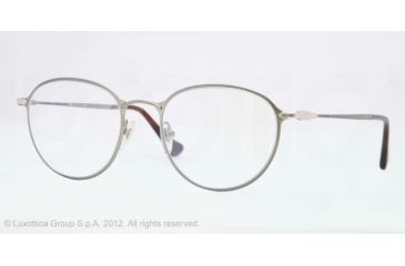 Persol PO2426V Single Vision Prescription Eyeglasses 1052-50 - Gunmetal Frame, Demo Lens Lenses