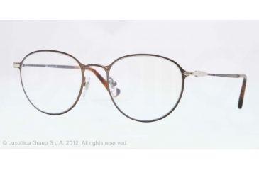 Persol PO2426V Single Vision Prescription Eyeglasses 1053-50 - Brown Frame, Demo Lens Lenses