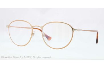 Persol PO2426V Single Vision Prescription Eyeglasses 1054-50 - Gold Frame, Demo Lens Lenses