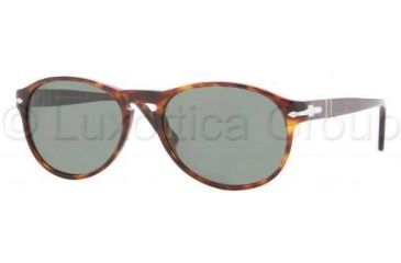 Persol PO2931S Single Vision Prescription Sunglasses PO2931S-24-31-5317 - Lens Diameter: 53 mm, Frame Color: Havana