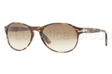 Persol PO2931S Single Vision Prescription Sunglasses PO2931S-938-51-5317 - Lens Diameter: 53 mm, Frame Color: Green Striped Brown