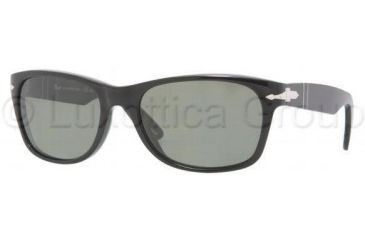 Persol PO2953S Single Vision Prescription Sunglasses PO2953S-95-58-5318 - Lens Diameter: 53 mm, Frame Color: Black