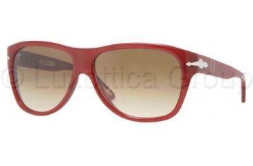 Persol PO2962S Sunglasses 854/51-5914 - Dark Red Striped Crystal Brown Gradient