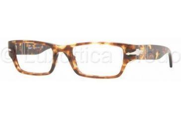 Persol PO2971V Progressive Prescription Eyeglasses 919-5219 - Spotted Dark Havana