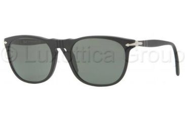 Persol PO2994S Sunglasses 900/31-5219 - Matte Black Frame, Crystal Green Lenses