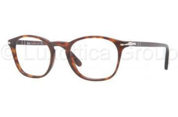 Persol PO3007V Single Vision Prescription Eyeglasses 24-4819 - Havana Frame