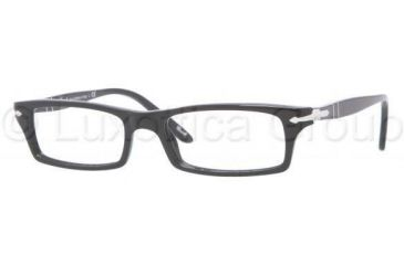 Persol PO3010V Single Vision Prescription Eyeglasses 95-5317 - Black Frame