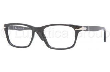 Persol PO3012V Single Vision Prescription Eyeglasses 95-5218 - Black Frame