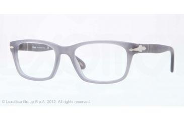 Persol PO3012V Prescription Eyeglasses 989-52 - Matte Grey Frame, Demo Lens Lenses