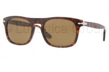 Persol PO3018S Single Vision Prescription Sunglasses PO3018S-24-33-5320 - Frame Color Havana, Lens Diameter 53 mm