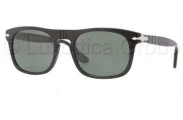 Persol PO3018S Single Vision Prescription Sunglasses PO3018S-95-31-5320 - Frame Color Black, Lens Diameter 53 mm