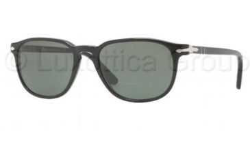 Persol PO3019S Sunglasses 95/31-5518 - Black Frame, Crystal Green Lenses