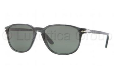 Persol PO3019S Sunglasses 982/31-5218 - Grey Horn Frame, Green Lenses