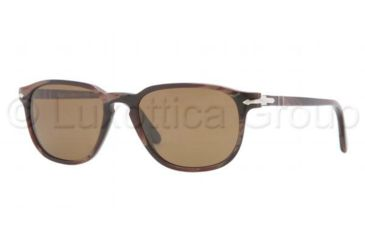 Persol PO3019S Sunglasses 983/57-5218 - Red Horn Frame, Brown Polarized Lenses