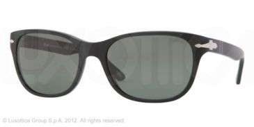 Persol PO3020S Prescription Sunglasses PO3020S-900-58-57 - Lens Diameter 57 mm, Frame Color Sandblast Black