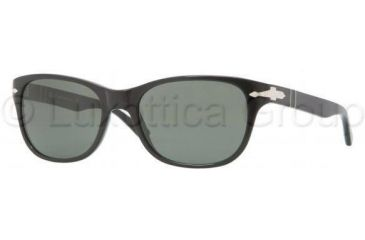 Persol PO3020S Single Vision Prescription Sunglasses PO3020S-95-31-5418 - Lens Diameter 54 mm, Frame Color Black