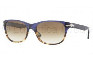 Persol PO3020S Progressive Prescription Sunglasses PO3020S-955-51-5418 - Lens Diameter 54 mm, Frame Color Havana / Blue Crystal