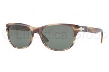 Persol PO3020S Progressive Prescription Sunglasses PO3020S-980-31-5418 - Lens Diameter 54 mm, Frame Color Stripped Brown