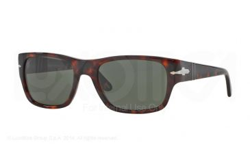 Persol PO3021S Bifocal Prescription Sunglasses PO3021S-24-31-56 - Lens Diameter 56 mm, Frame Color Havana