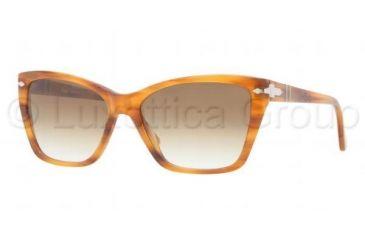 Persol PO3023S Prescription Sunglasses PO3023S-960-51-5616 - Lens Diameter 56 mm, Frame Color Stripped Brown