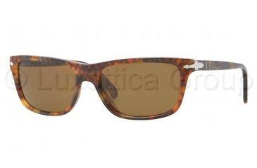 Persol PO3026S Bifocal Prescription Sunglasses PO3026S-108-33-5517 - Lens Diameter 55 mm, Frame Color Light Havana