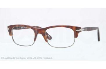 Persol PO3033V Progressive Prescription Eyeglasses 899-50 - Matte Havana Frame, Demo Lens Lenses