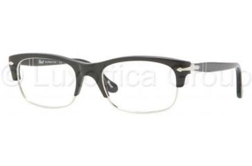 Persol PO3033V Single Vision Prescription Eyeglasses 95-5018 - Black Frame