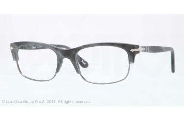 Persol PO3033V Progressive Prescription Eyeglasses 995-50 - Grey Horn/matte Smoke Frame, Demo Lens Lenses