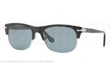 Persol PO3034S Progressive Prescription Sunglasses PO3034S-95-4N-53 - Lens Diameter 53 mm, Frame Color Black