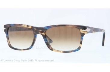 Persol PO3037S Progressive Prescription Sunglasses PO3037S-978-51-54 - Lens Diameter 54 mm, Frame Color Brown/striped Grey