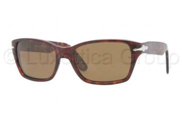 Persol PO3040S Sunglasses 24/57-5618 - Havana Frame, Crystal Brown Lenses